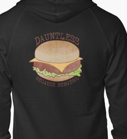 Dauntless - Because Burgers Zipped Hoodie