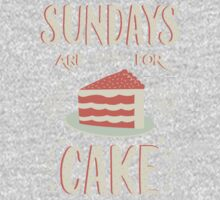 Sundays Are For Cake One Piece - Short Sleeve