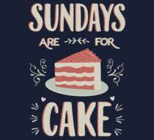 Sundays Are For Cake One Piece - Short Sleeve