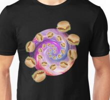 Spiral Galaxy of Burgers Unisex T-Shirt