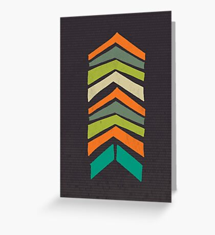 Mid Century Chevron Art II Greeting Card