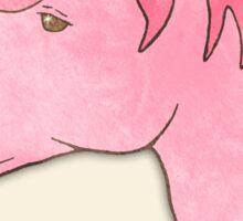 Be Yourself - Unicorn Pattern on Mint Sticker