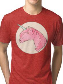 Be Yourself - Unicorn Pattern on Mint Tri-blend T-Shirt