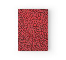 Elephant print RED Hardcover Journal