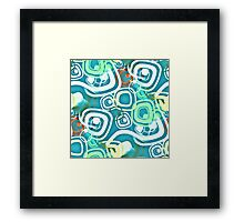 Retro Psychedelic Seamless Repeating Pattern Framed Print
