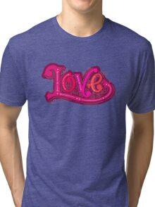 Love lettering Tri-blend T-Shirt