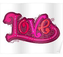 Love lettering Poster
