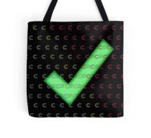 Nerd Check c# Tote Bag