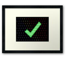 Nerd Check c# Framed Print