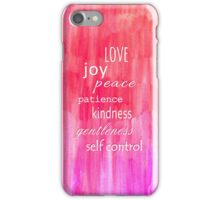 Inspirational Text on Pink Watercolor Abstract iPhone Case/Skin