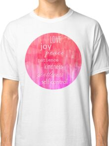 Inspirational Text on Pink Watercolor Abstract Classic T-Shirt
