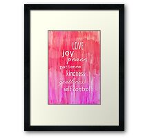 Inspirational Text on Pink Watercolor Abstract Framed Print