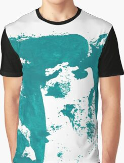 Artistic brush paint smears in sea green Graphic T-Shirt