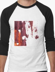 Artistic brush paint smears in deep violet red Men's Baseball ¾ T-Shirt