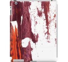 Artistic brush paint smears in deep violet red iPad Case/Skin
