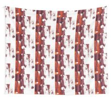 Artistic brush paint smears in deep violet red Wall Tapestry
