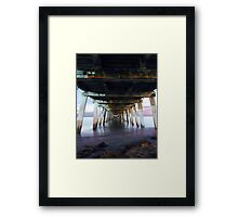 Grange Jetty: One Autumn night  Framed Print