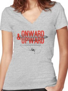Onward And Upward Women's Fitted V-Neck T-Shirt