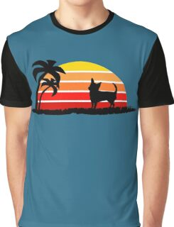 Chihuahua on Sunset Beach Graphic T-Shirt