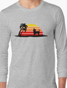 Chihuahua on Sunset Beach Long Sleeve T-Shirt