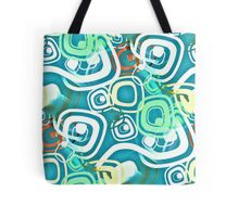 Retro Psychedelic Seamless Repeating Pattern Tote Bag