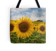 Sunflower field - Oil Impasto Impressionism Tote Bag