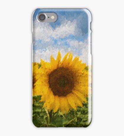 Sunflower field - Oil Impasto Impressionism iPhone Case/Skin