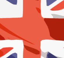 Union Jack - British Flag (block - modern art design) Sticker