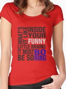 Sherlock quote typography Women's Fitted Scoop T-Shirt