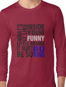 Sherlock quote typography Long Sleeve T-Shirt
