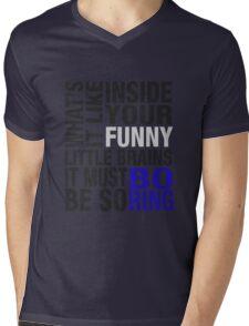 Sherlock quote typography Mens V-Neck T-Shirt