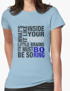 Sherlock quote typography Womens Fitted T-Shirt