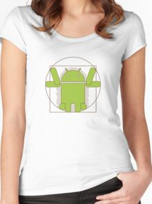 Vitruvian Android Women's Fitted Scoop T-Shirt