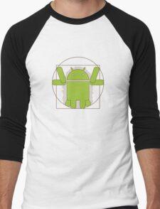 Vitruvian Android Men's Baseball ¾ T-Shirt