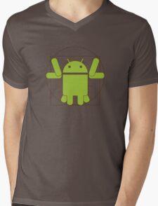 Vitruvian Android Mens V-Neck T-Shirt