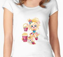 Shopkins Shoppies Poppette Women's Fitted Scoop T-Shirt