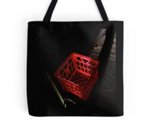 Red Milk Crate Tote Bag