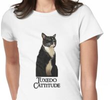 Tuxedo Cattitude Womens Fitted T-Shirt