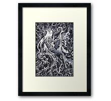 King in his forest Framed Print