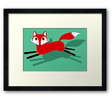 RUNNING FOX AND SHADOW Framed Print