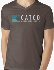 CatCo WWM Mens V-Neck T-Shirt