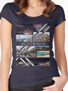 Australia T-Shirt Women's Fitted Scoop T-Shirt