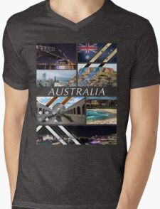 Australia T-Shirt Mens V-Neck T-Shirt