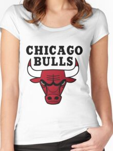 Chicago Bulls Women's Fitted Scoop T-Shirt
