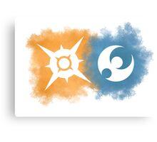 Pokemon Sun and Moon logos Canvas Print