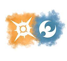 Pokemon Sun and Moon logos Photographic Print