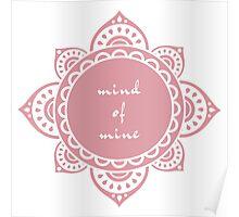 Mandala Mind - Pink Poster