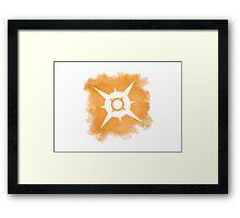 Pokemon Sun logo Framed Print
