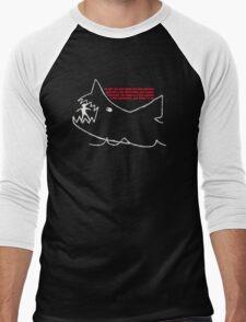 Jaws - Quints chalk drawing Men's Baseball ¾ T-Shirt