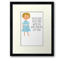 Sound of music - Maria realizes she's in love Framed Print
